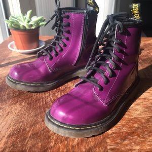 Dr. Martens   Delaney Purple Lace Up Boots